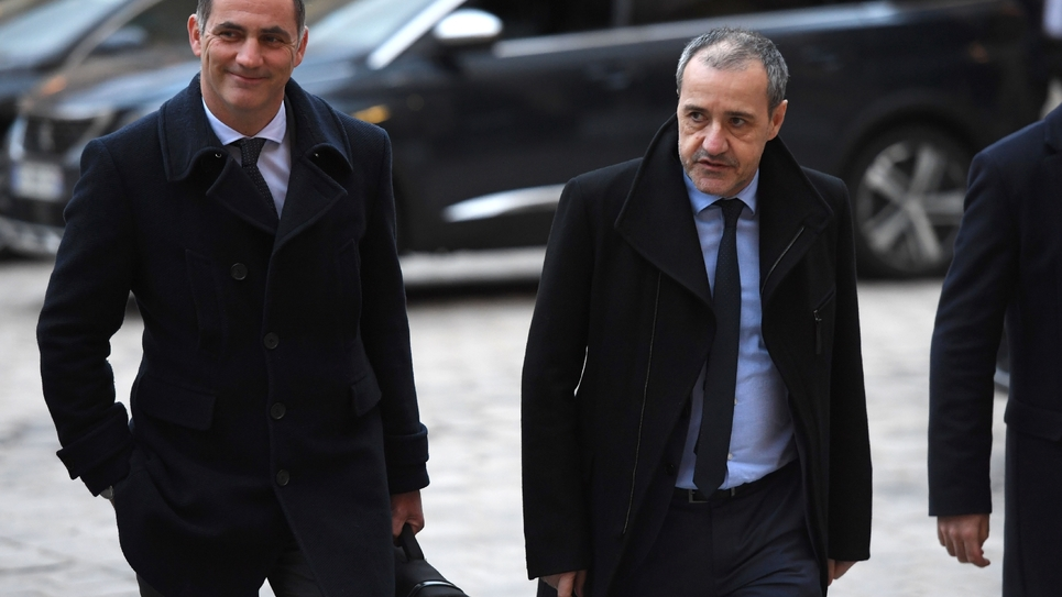 Gilles Simeoni et Jean-Guy Talamoni à Matignon en mars 2018