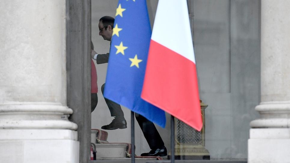 Le président de la République François Hollande au palais de l'Élysée le 11 janvier 2017.