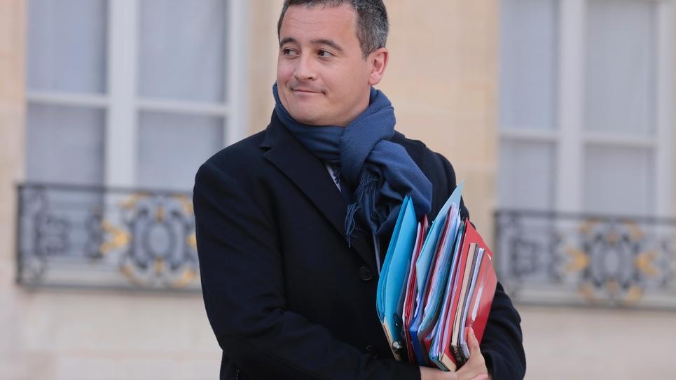 Le ministre de l'Action et des Comptes publics, Gérald Darmanin, le 20 février 2019 à l'Elysée, à Paris