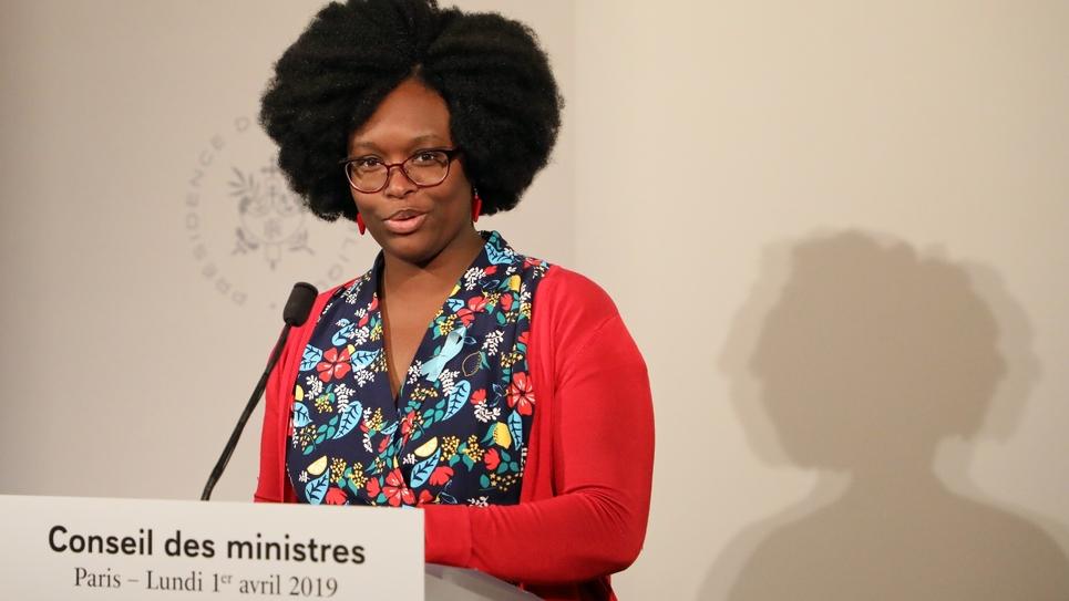 Sibeth NDiaye, porte-paarole du gouvernement, le 1er avril 2019 à Paris