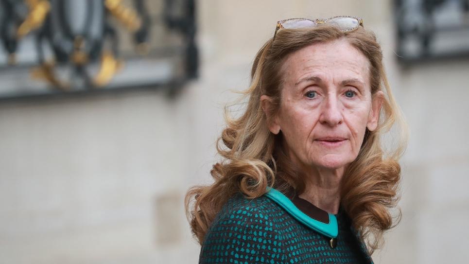 La ministre de la Justice, Nicole Belloubet à la sortie de l'Elysée, le 4 mars 2020 à Paris