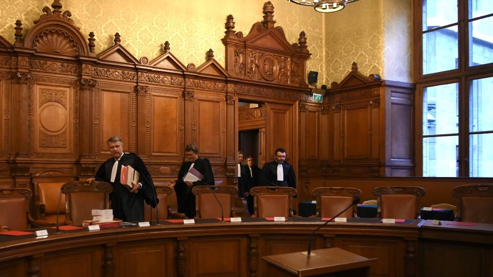 Arrivée des magistrats de la Cour de justice de la République à Paris, le 24 septembre 2019
