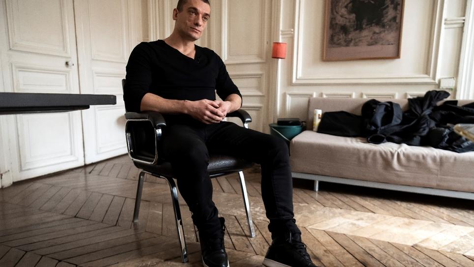 L'artiste russe Pavel Pavlenski à PAris, le 14 février 2020