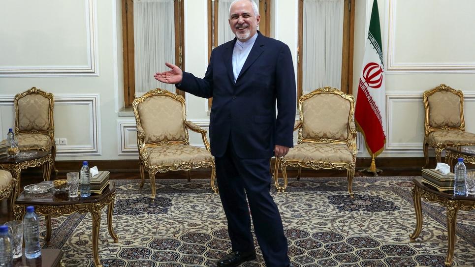 Le ministre iranien des Affaires étrangères Mohammad Javad Zarif s'apprête à recevoir à Téhéran le conseiller diplomatique du président Macron, le 10 juillet 2019