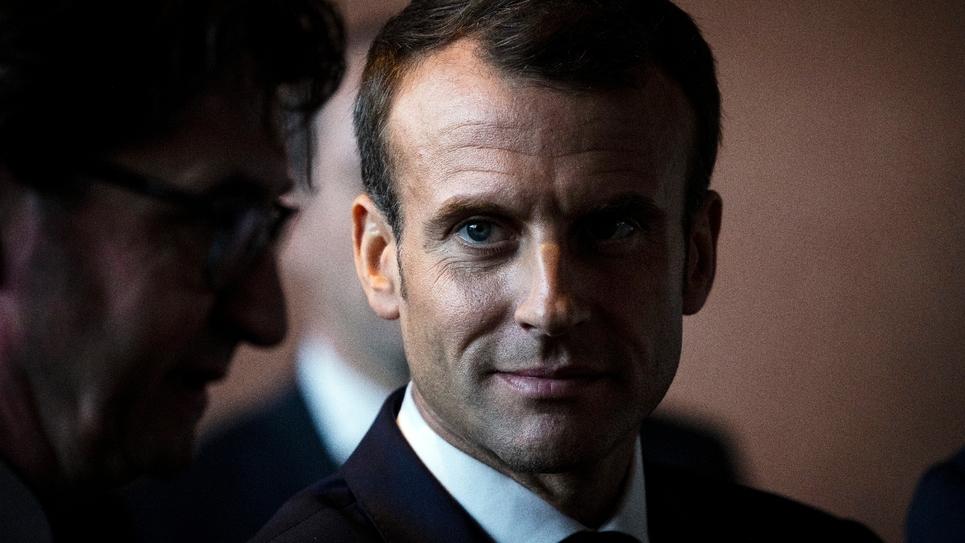 Le président Emmanuel Macron à Pompey dans le nord de la France le 5 novembre 2018