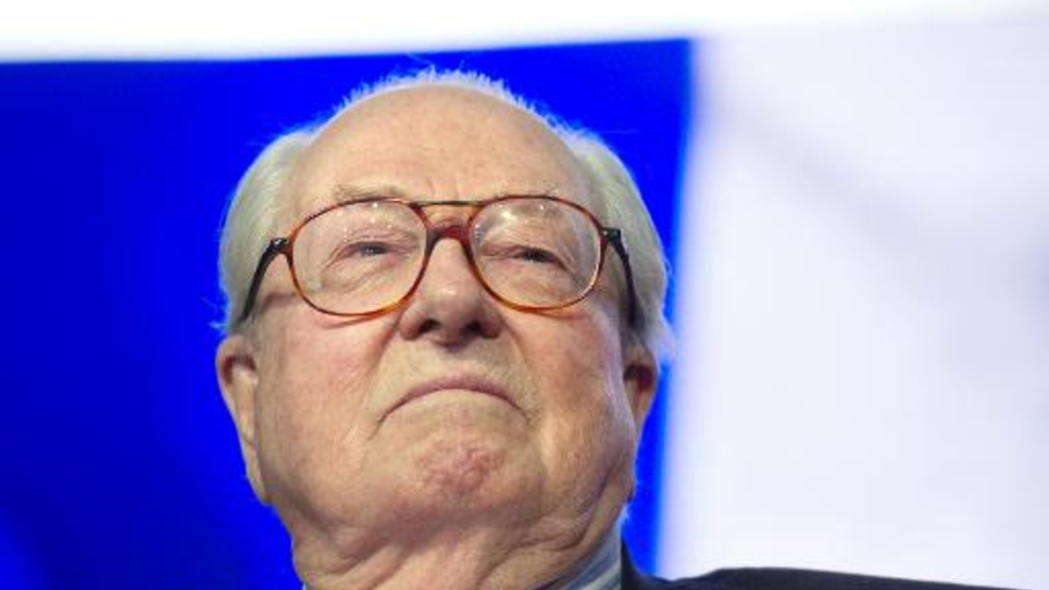 Le président honoraire du FN Jean-Marie Le Pen le 25 janvier 2015 à Paris