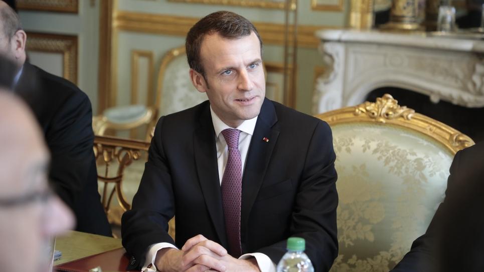 Le président de la République Emmanuel Macron à l'Elysée le 15 février 2019 à Paris