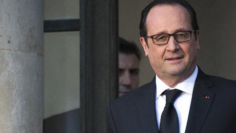 Le président François Hollande à l'Elysée le 4 février 2015