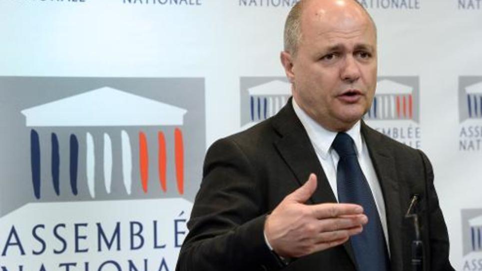 Bruno Le Roux, le chef de file des députés PS, le 23 avril 2014 à l'Assemblée nationale à Paris