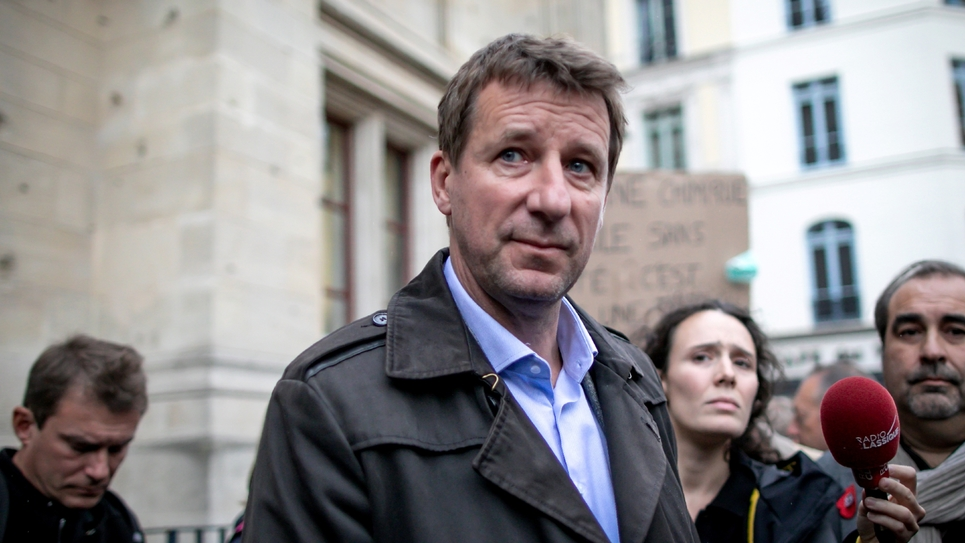 Le député européen EELV Yannick Jadot,  le 1er octobre 2019 à Rouen