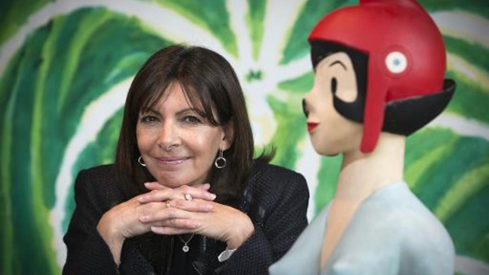 La maire de Paris Anne Hidalgo (PS), le 4 mars 2015 à l'Hôtel de Ville