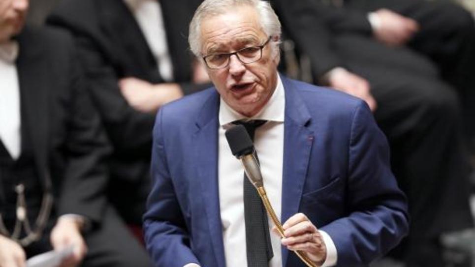 Le ministre du Travail François Rebsamen lors des questions au gouvernement le 4 février 2015 à l'Assemblée nationale à Paris