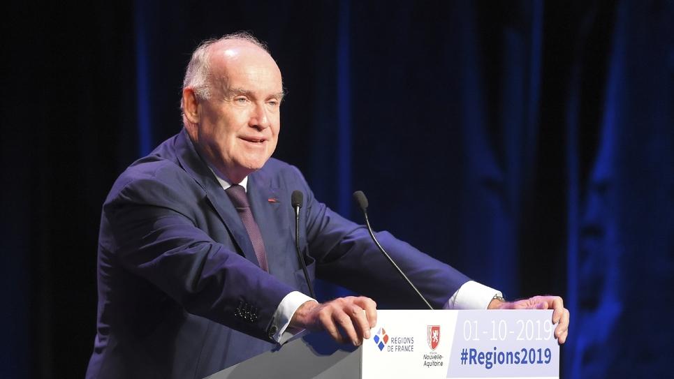 Dominique Bussereau lors du 15e congrès des Regions à Bordeaux, le 1er octobre 2019