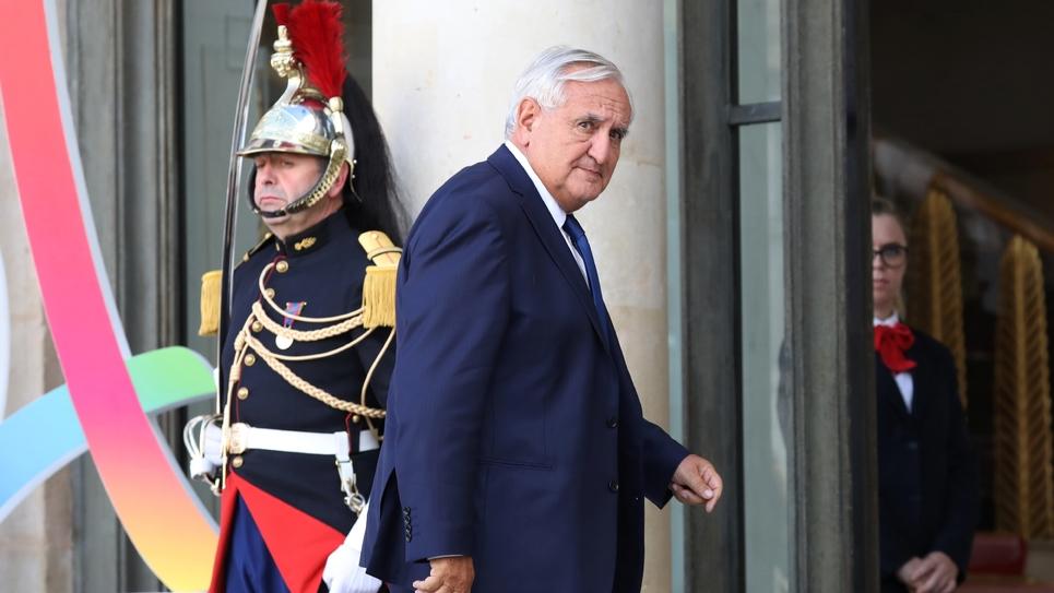 Jean-Pierre Raffarin arrivant à l'Elysée le 15 septembre 2017