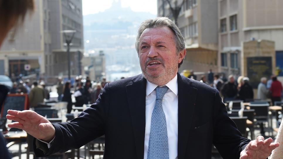 Jean-Noël Guerini en visite au quartier du Panier à Marseille, en mars 2015