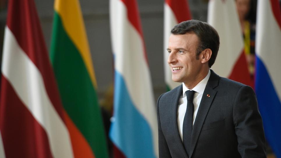 Le président Emmanuel Macron, le 21 mars 2019 à Bruxelles