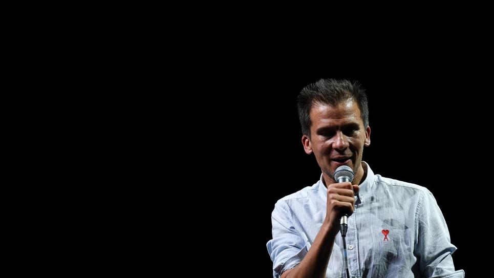 """Gaspard Gantzer lors du lancement de son mouvement  """"Parisiennes, Parisiens"""", à l'Elysée-Montmartre à Paris le 11 octobre 2018"""