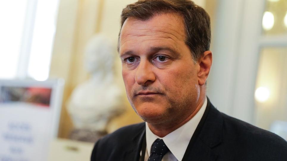 Le vice-président du FN Louis Aliot, le 21 juin 2017 à l'Assemblée nationale à Paris