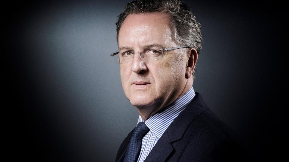 Le président du groupe En Marche! Richard Ferrand le 18 avril 2017 à Paris