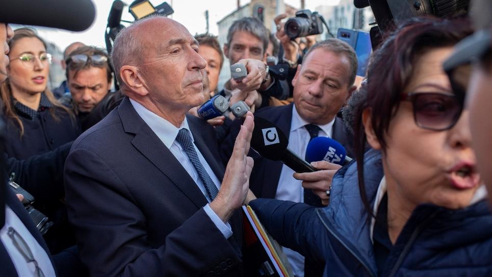 Gérard Collomb à la gare de Lyon-Perrache, le 3 octobre 2018