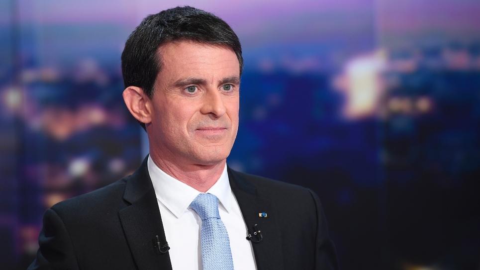 Manuel Valls lors du journal de 20h sur TF1, le 23 janvier 2007 à Boulogne-Billancourt