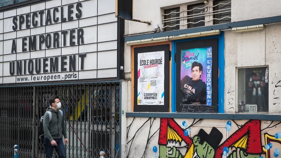 Le théâtre l'Européen à Paris, le 4 mai 2020