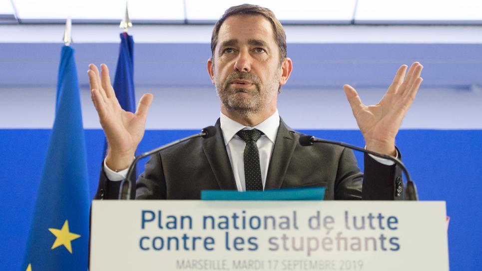 Christophe Castaner à Marseille pour présenter l'Ofast, le 17 septembre 2019