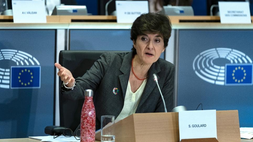 Sylvie Goulard lors de son audition au Parlement européen, le 10 octobre 2019 à Bruxelles