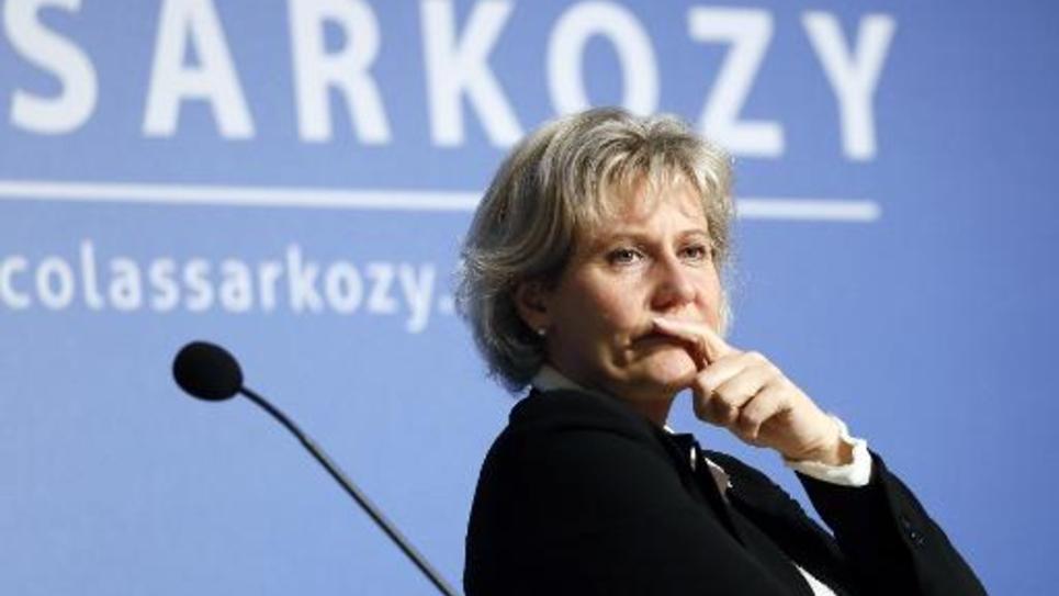 """Nadine Morano, en 2013 à Paris, lors d'une réunion de l'association """"Les amis de Nicolas Sarkozy"""""""