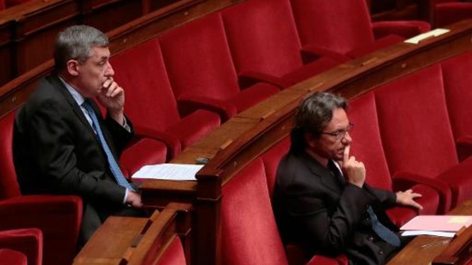 Des députés UMP sur les rangs de l'Assemblée nationale lors de la discussion de la loi Macron le 26 janvier 2015