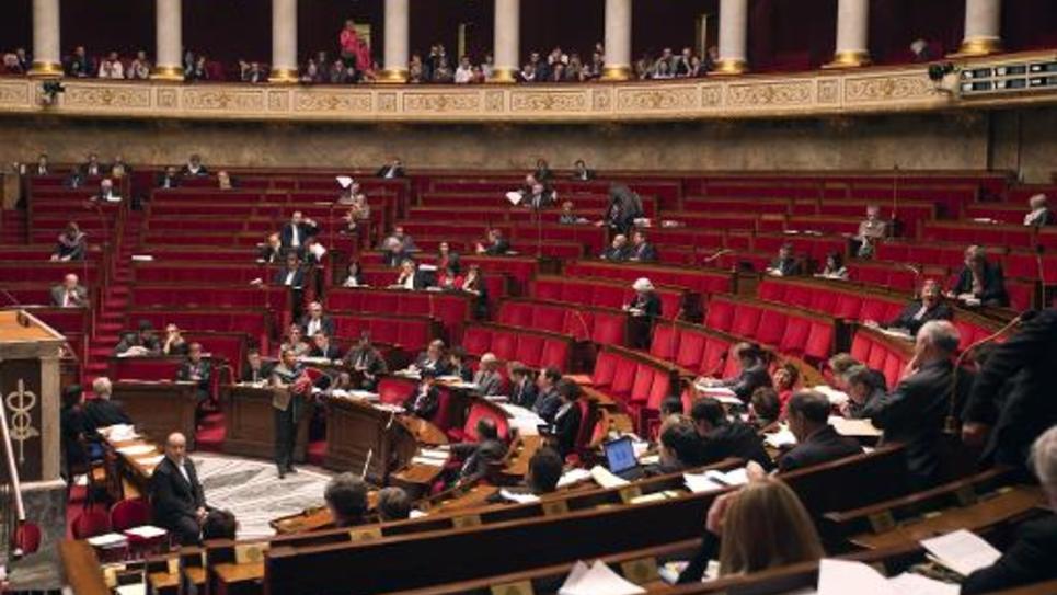 Vue de l'Assemblée nationale à Paris, le 4 février 2013