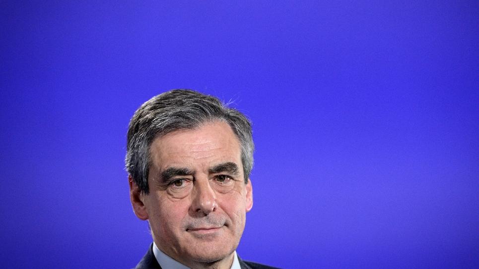 François Fillon, le candidat LR à l'élection présidentielle, à Strasbourg le 6 avril 2017