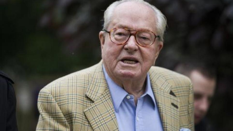 Le fondateur du Front national Jean-Marie Le Pen à Saint-Cloud le 25 mai 2014