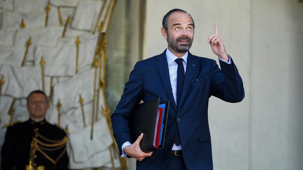Le Premier ministre Edouard Philippe à la sortie du Conseil des ministres au Palais de l'Elysée à Paris, le 10 octobre 2018