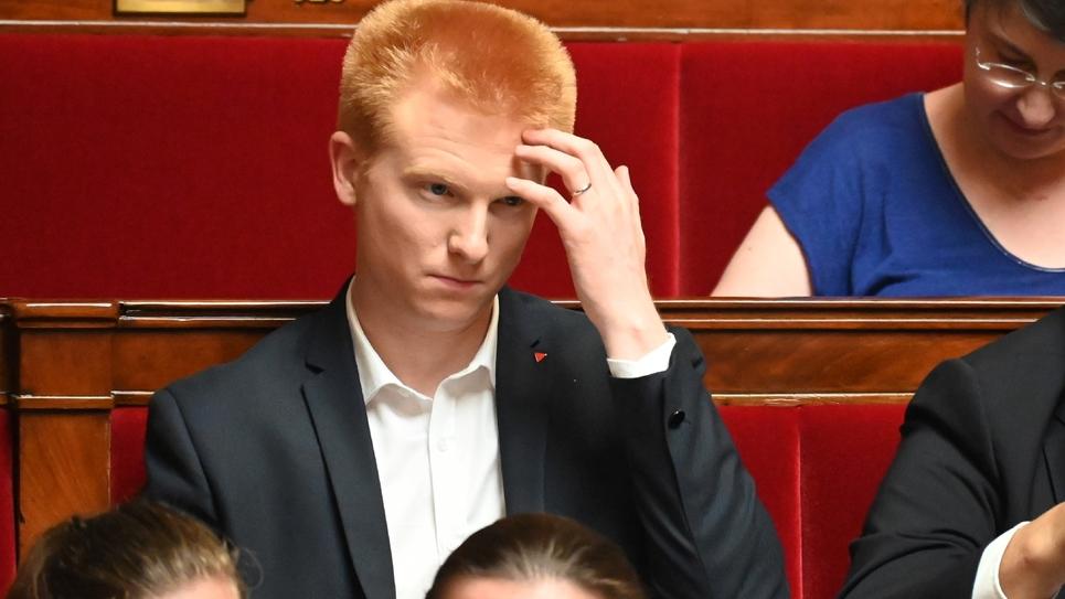 Le député LFI Adrien Quatennens à l'Assemblée nationale à Paris le 25 juin 2019