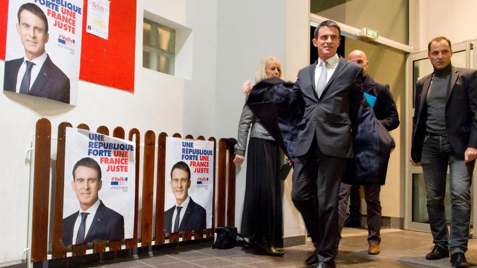 Manuel Valls le 10 janvier 2017 à Clermont Ferrand