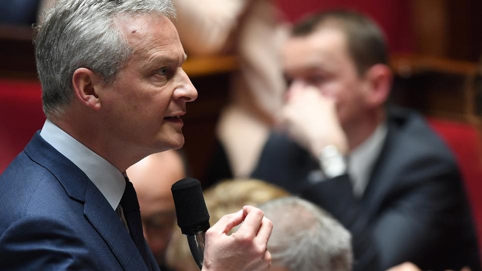 Le ministre de l'Economie Bruno Le Maire, le 26 mars 2019 à L'Assemblée nationale