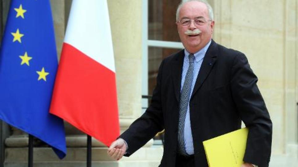 Christophe de Margerie, PDG de Total, à son arrivée au Palais de l'Elysée, le 30 juin 2014 à Paris