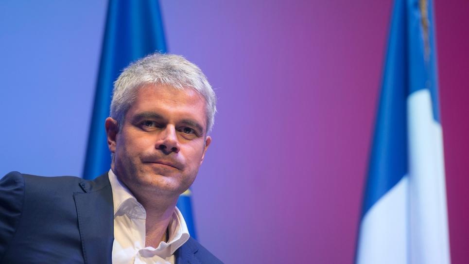 Laurent Wauquiez, candidat à la présidence du parti Les Républicains, lors d'un meeting à Toulon, le 6 décembre 2017