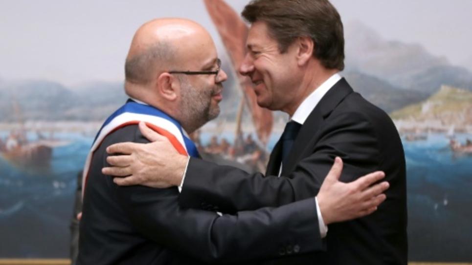 Le nouveau maire Philippe Pradal et Christian Estrosi, le 13 juin à Nice