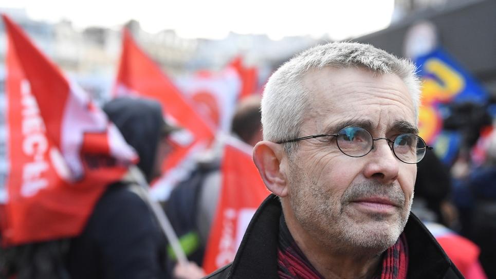 Yves Veyrier, secrétaire général de FO, le 7 février 2019 à Paris