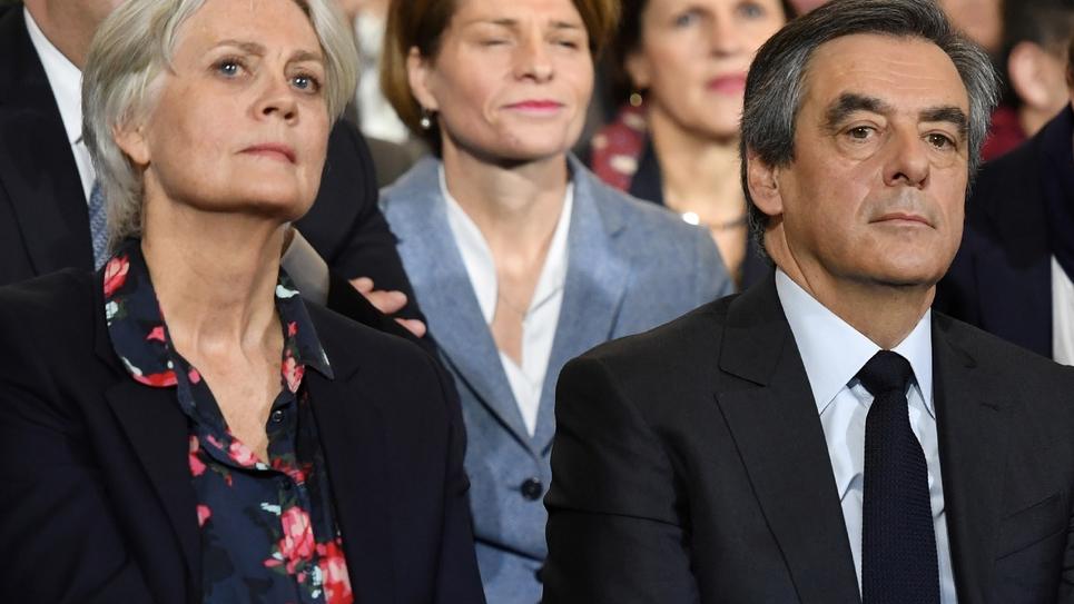François Fillon et son épouse Penelope Fillon, le 29 janvier 2017 à Paris