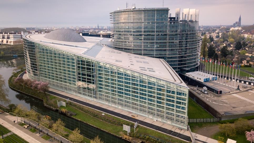 Le parlement européen de Strasbourg le 7 avril 2019