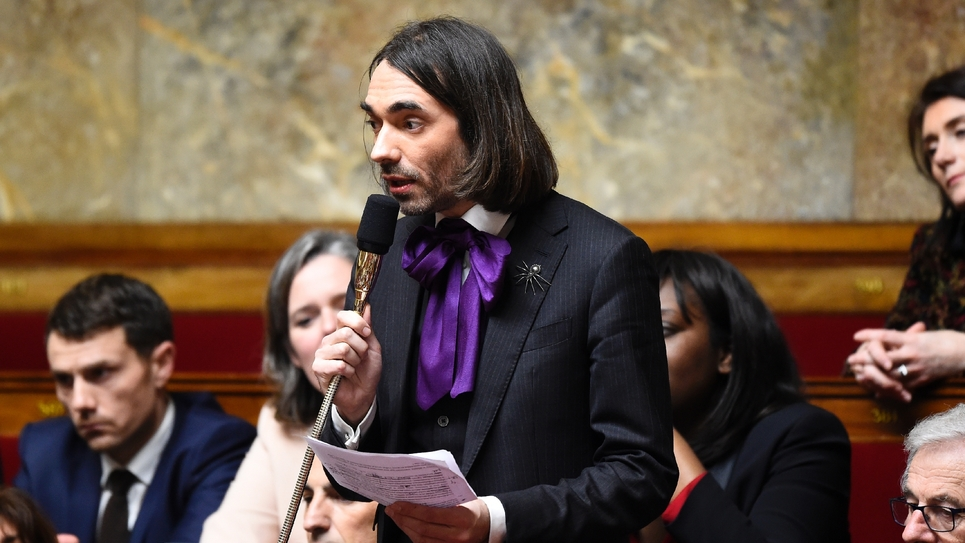 Le député LREM et mathématicien Cédric Villani à l'Assemblée nationale à Paris le 14 février 2018