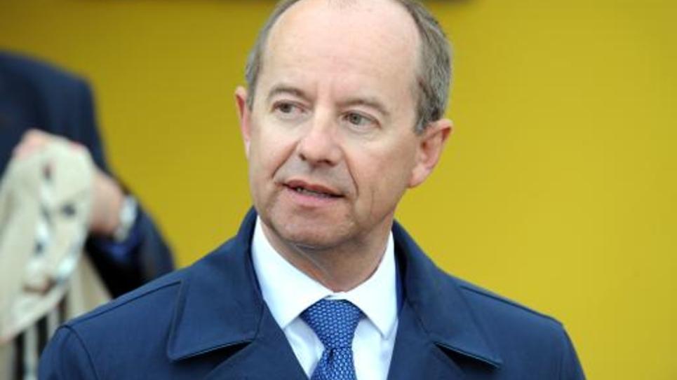 Le député du Finistère et président de la commission des lois de l'Assemblée nationale Jean-Jacques Urvoas sur l'île de Sein le 25 août 2014