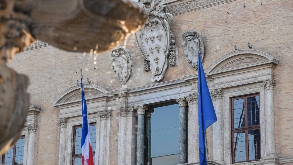 La façade du palais Farnèse à Rome, qui abrite l'ambassade de France, le 7 février 2019