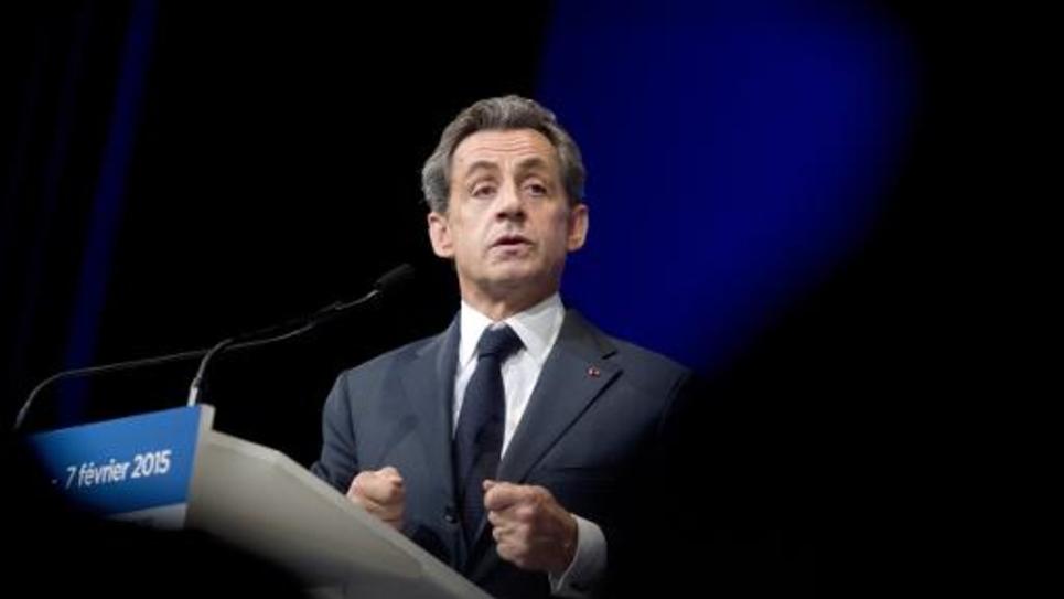 Nicolas Sarkozy s'exprime le 7 février 2015 lors du conseil national de l'UMP à Paris