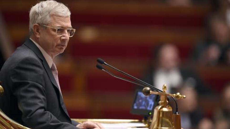 Le président de l'Assemblée nationale, Claude Bartolone, le 4 mars 2015 dans l'hémicycle, à Paris
