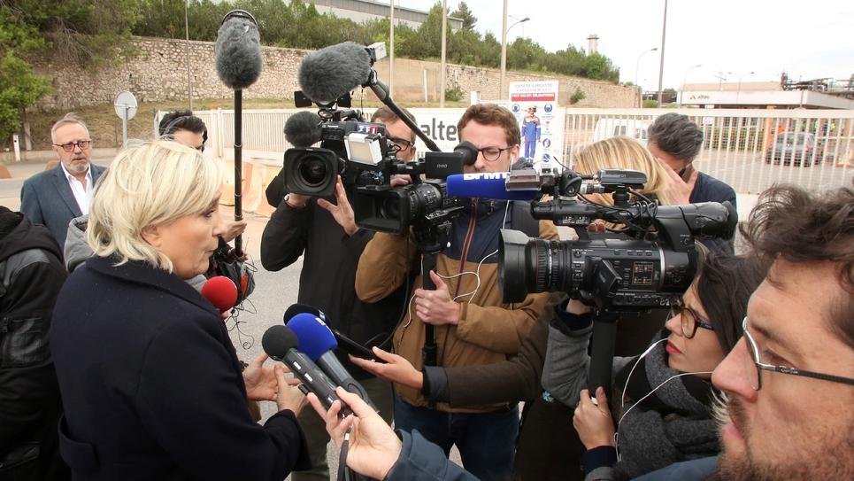 Marine Le Pen à Gardanne, le 30 avril 2017