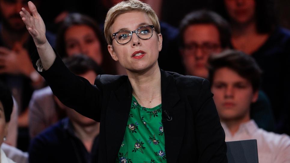 Clémentine Autain, député LFI le 24 janvier 2019 à Saint-Cloud